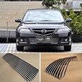 Сплав алюминиевый передний центр гоночная сетка бампер грили Заготовка решетка крышка для Mazda 6 2011-2015