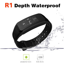 ФОТО R1 Smart Bracelet Bluetooth IP67 Waterproof Mobile Phone Wristband  IOS Android Sport SmartWatch pk mi band 2 xiao A58 S2 X9