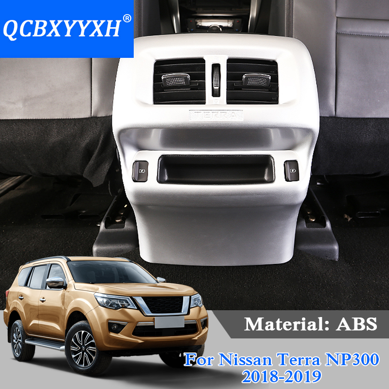 QCBXYYXH ABS Car Styling Car Rear Outlet Internal Decoration Sequins For Nissan Terra Navara NP300 2018-2019 Interior Sticker carking d1409127 grid pattern abs uv protected car interior mirror sticker white black