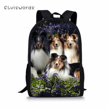 ELVISWORDS Kids Fashion Backpack Cute Animal Childrens School Bags Sheltland Sheepdogs Toddler Schoolbags Women Travel