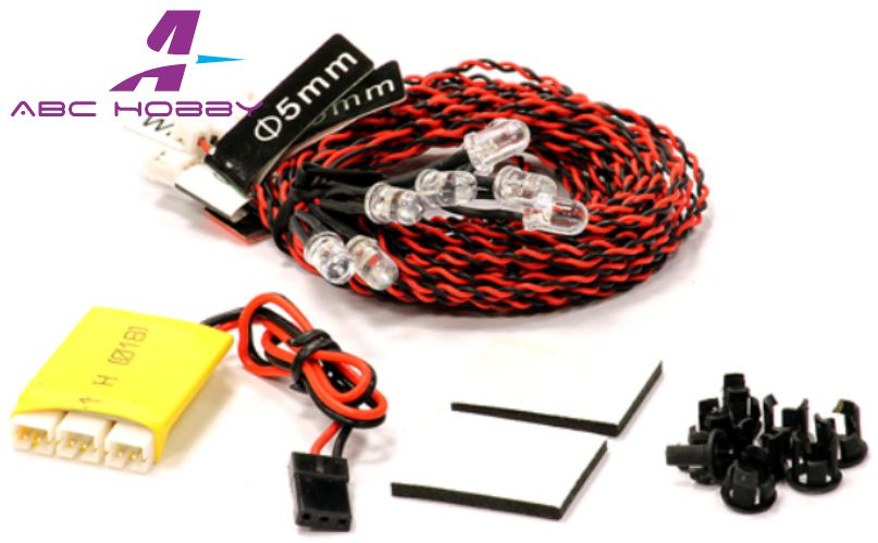 Parts & Accessories Complete 8 Led Light Kit W/ Control Box Module For Airplanes & Helicopter C24361 Fragrant Aroma