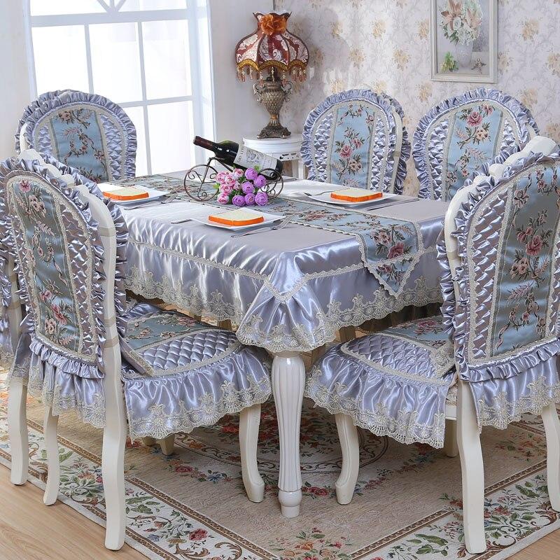 상위 학년 퀼트 식탁 천으로 두꺼운 따뜻한 의자 커버 쿠션 천으로 예술 고급스러운 레이스 천으로 테이블 천을 설정-에서식탁보부터 홈 & 가든 의  그룹 1