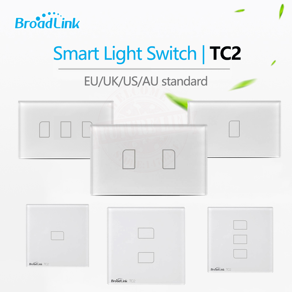 Broadlink TC2 1Gang/2Gang/3Gang UK/EU/US Touch RF433 Switch Smart  Home Automation Wireless Wifi Remotel Control  Wall Lighteu usus  euus light