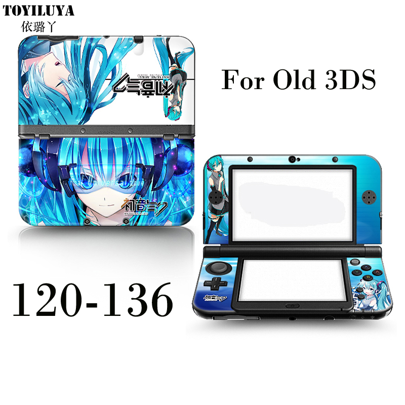 Protective Vinly Skin Sticker Game Front&Back Decal Skin Stickers Protector Cover Plates Or Hatsune Future And One Piece For3DS