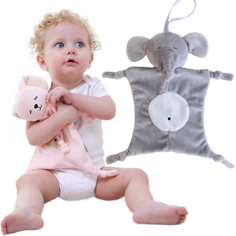 Newborn Pacifier Blankie Soothing Towel Baby Sleeping Toys Infant Soft Soother Towel Cartoon Animal Educational Plush Toys creative mustache style infant pacifier