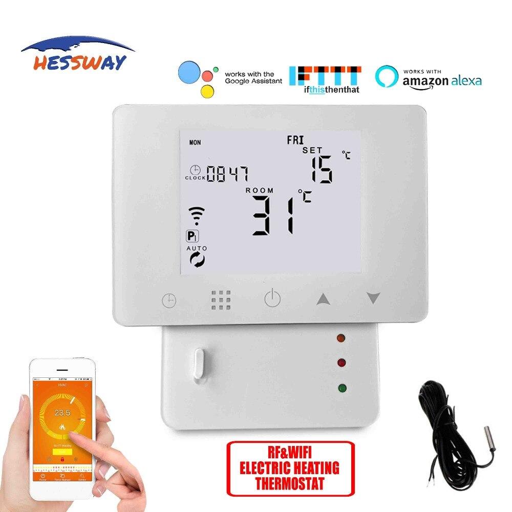 Lcd para 2 Hessway Tuya Quarto Termostato Wi-fi