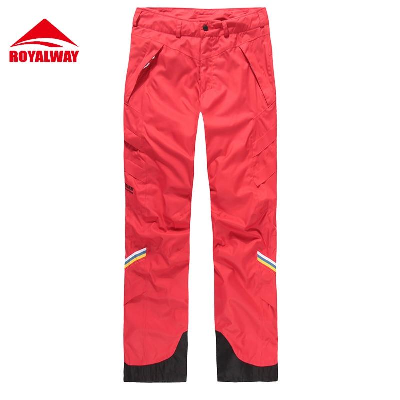 ROYALWAY Skiing Ski Pants Men Wear Resistant Waterproof Windproof Professional Snowboard Pants Super Quality 2017 New#RFJM4503G