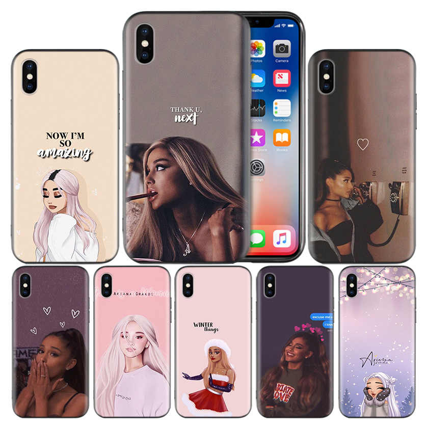 Ariana Grande Frosted Fundas สำหรับ Apple iPhone 7 8 6 6 S Plus X XS MAX XR 5 5 S 5C SE 10 ป้องกัน Coque