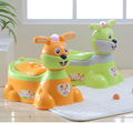 2016 good selling lovely rabbit music potty trainer plastic baby toilet