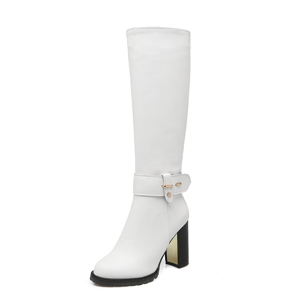 High Inverno Donne bianco Heels Delle Stivali Ginocchio brown Signore Della Nuovo Super 2018 Il Abito Alti Al Boot Scarpe Autunno Nero Donna xgq7wEfX