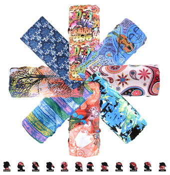 18 Style Art Polyester Scarves Face Dust Mask Outdoor Sports Bandana Scarf Camping Cycling Headwear Hiking Magic Scarves