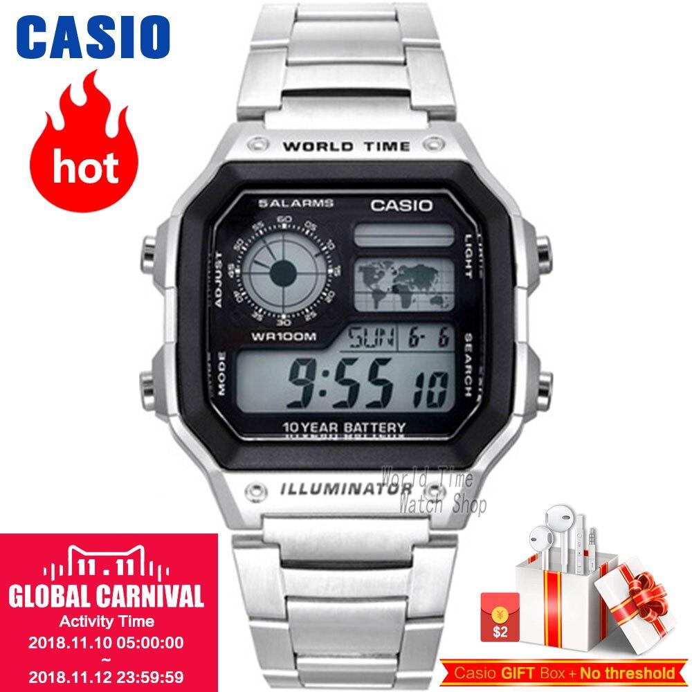 Часы Casio Analogue Мужские кварцевые спортивные часы Случайные старинные квадратные часы