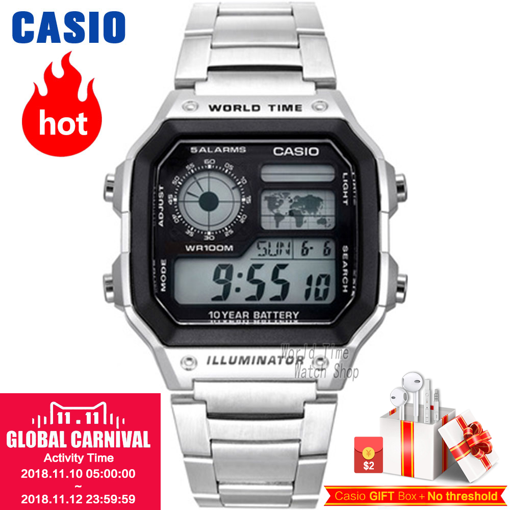 цена на Casio Watch Waterproof Sports Men's Watch AE-1200WHD-1A AE-1200WHB-1B AE-1200WHB-3B AE-1300WH-1A AE-1300WH-4A AE1300WH8A