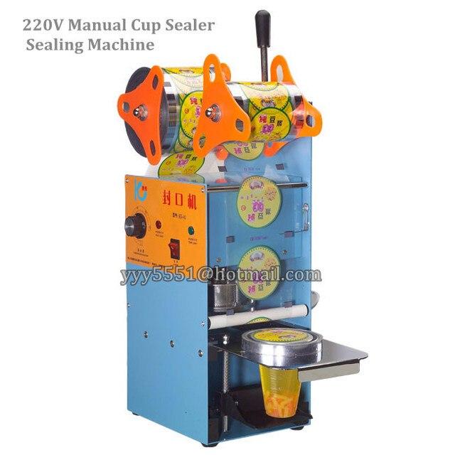 دليل كأس ختم الآلة لل 9.5 سنتيمتر فقاعة كوب الشاي كأس السدادة آلة 220 فولت للقهوة/فقاعة الشاي آلة الختم