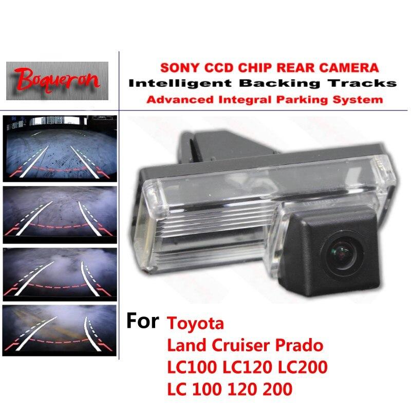for Toyota Land Cruiser Prado LC100 LC120 LC200 CCD Car Backup Parking Camera Intelligent Tracks Dynamic