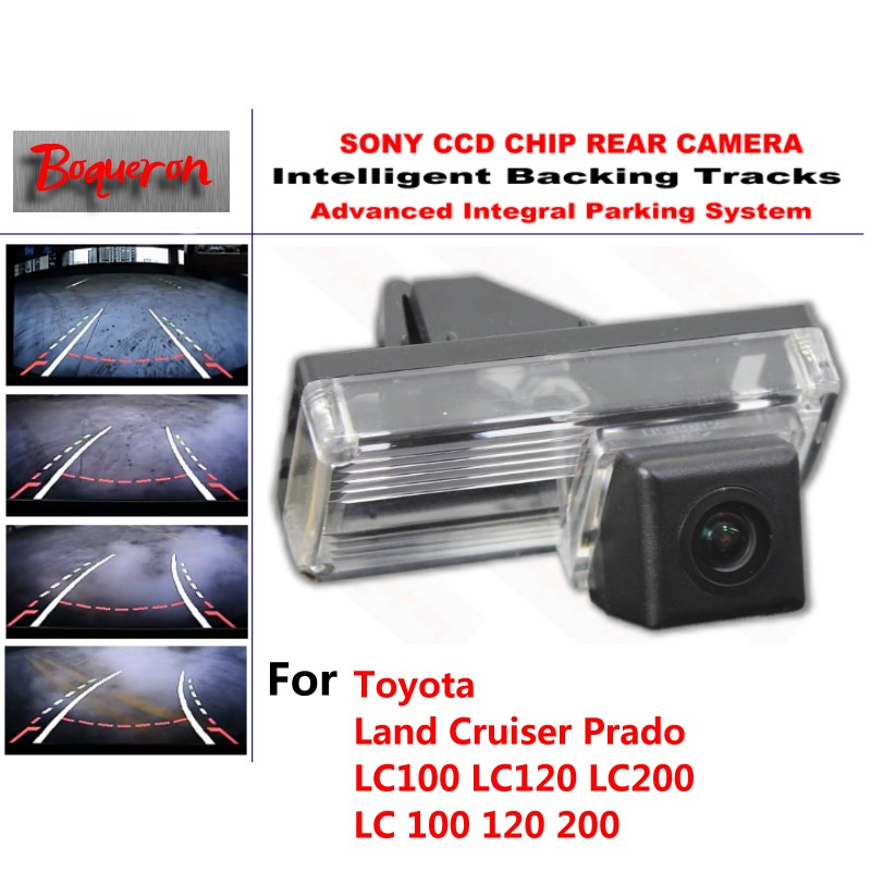 for Toyota Land Cruiser Prado LC100 LC120 LC200 CCD Car Backup Parking Camera Intelligent Tracks Dynamic Guidance RearViewCamera Toyota Land Cruiser