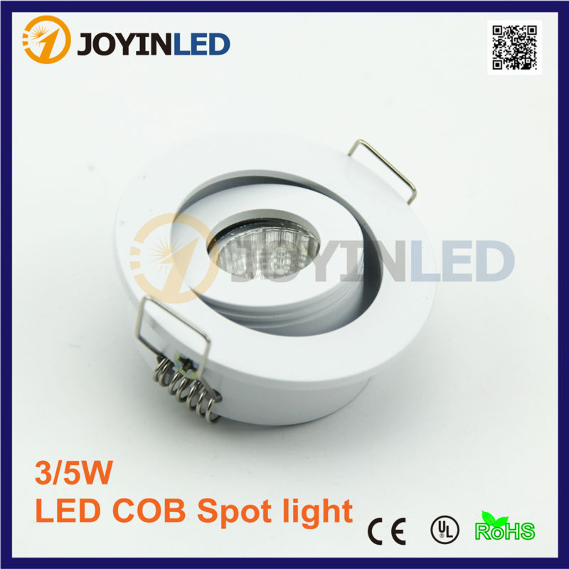 Dimmable MINI White Recessed COB led Spot light 1W 3W led Downlight 10pcs/lot AC85-265V Cabinet Led light RoHS CE
