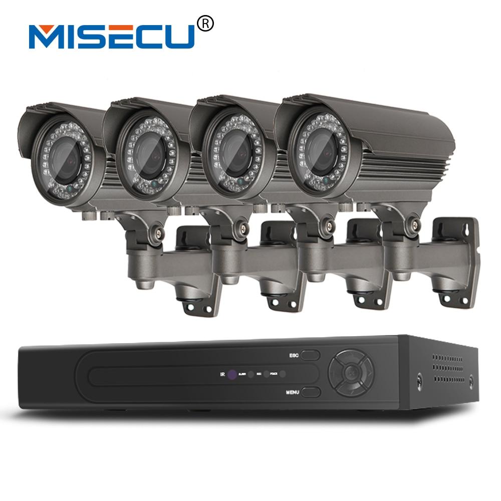 bilder für Misecu h.265 4.0mp 4 karat 48 v 2,8-12mm zoom 8ch poe hi3516d ov4689 P2P HDMI 4 stück Metall 36 stück IR nachtsicht XMeye Überwachung CCTV
