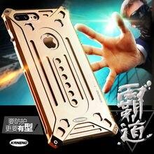 Для iPhone 7 Plus чехол 5.5 »kaneng Роскошные Алюминий металла властный Броня обложка винт большой коробке модные Лидер продаж