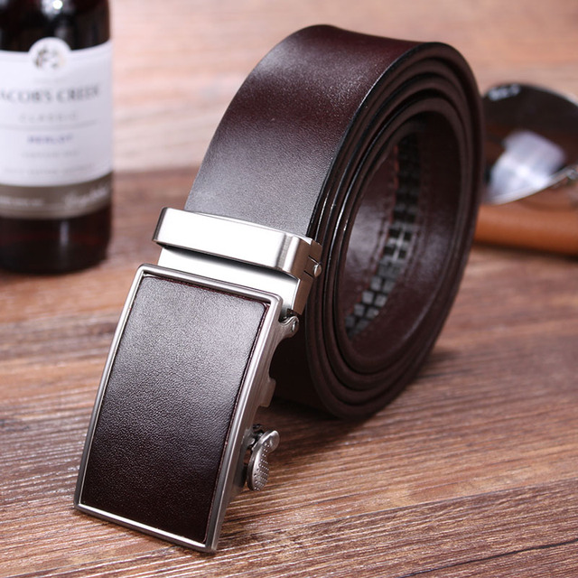 b23f9c972a Hongmioo Hot Sale 2016 luxury brand men belts Automatic buckle belt mens  belt automatic Genuine Leather Belt