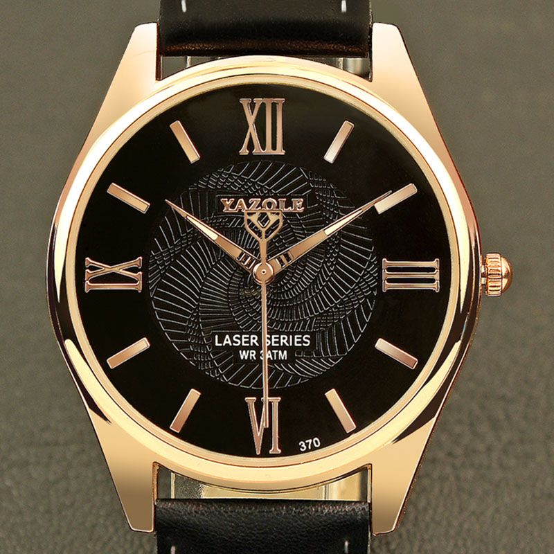 YAZOLE Fashion Luminous Wrist Watch Men Watch Top Brand Luxury Business Watch Waterproof Watches Leather Clock reloj hombre цена