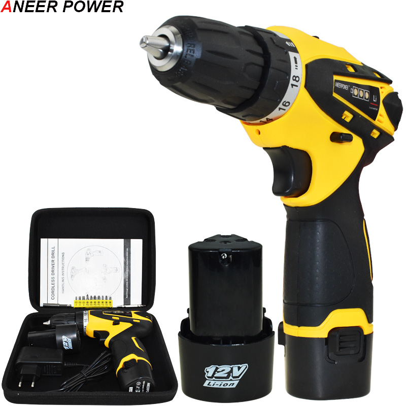 1.5Ah Battery Capacity Drill 12v Mini Cordless Drill Power Tools Electric Screwdriver Electric Drill Batteries Screwdriver 1 5ah battery capacity drill 12v mini cordless drill power tools electric screwdriver electric drill batteries screwdriver