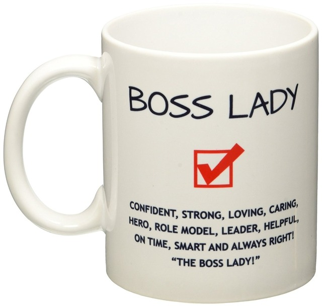 Funny Boss Lady Mug Gifts Novelty Mug Cups Tea Cup Ceramic Coffee