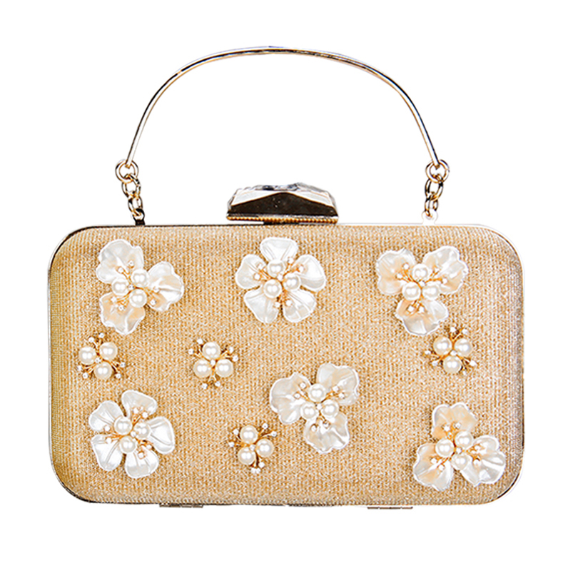 2017 Pearl Bridal Flowers Women Day Bag Clutch Handbag Ladies Banquet Evening Bag Women Chain Party Shoulder Crossbody  Bag luxury crystal clutch handbag women evening bag wedding party purses banquet