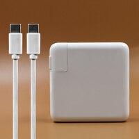 87 Вт USB-C Мощность адаптер Тип-C Зарядное устройство с 1 м USB-C зарядный кабель для последней Macbook pro 15 дюймов A1706 A1707 A1708 A1719