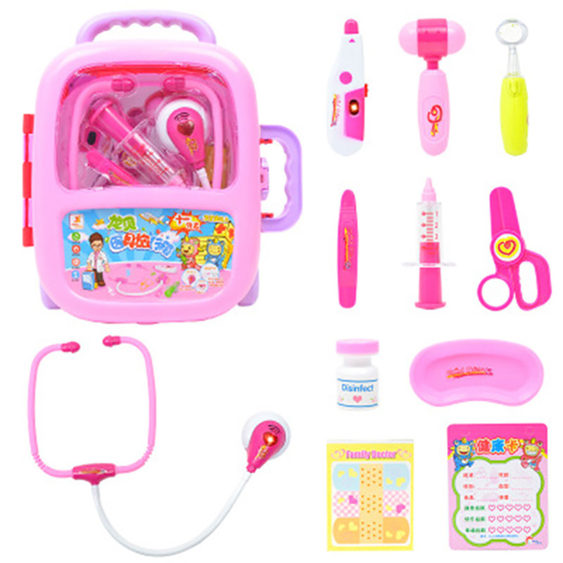 Children Pretend Play Doctor Nurse Toy Set Rod Portable Suitcase Medical Kit Kids Educational Role Play Classic Toys in Doctor Toys from Toys Hobbies