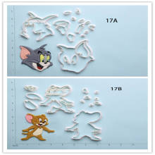 Popular Film Tom And Jerry Cheap Cutters Custom Made 3D Printed Fondant Cake Cutter Set printio tom and jerry