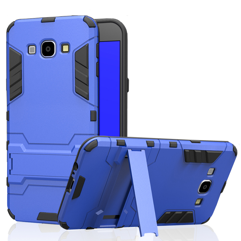 CAPSSICUM Armor Case for <font><b>Samsung</b></font> Galaxy A8 <font><b>A8000</b></font> PC+Silicone Hard Anti-knock Shockproof Kickstand Back Cover Shell image