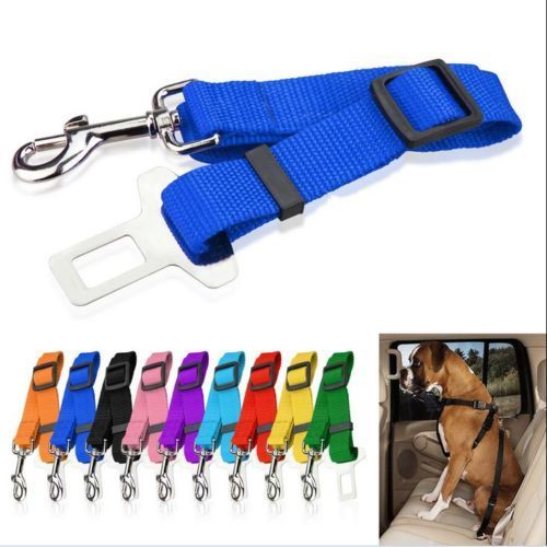 Adjustable Pet Cat Dog Vehicle Car Seat Belt Durable Pet Seatbelt Harness Lead Clip Safety Pet Supplies for Travelling Driving