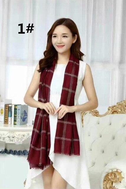 Neue Überprüft Dünne Raster Schal Luxus Marke Schal Frauen Baumwolle Kostenloser Versand Canada Plaid Muslimische Kopftuch Wrap Muffler 10 teile/los