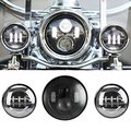 For Harley Davidson Daymaker Motorcycles 7inch round led headlight + Black 4.5'' Inch led foglights 6000K Passing Projector Lamp