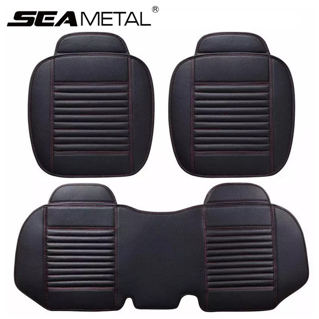 Car Seat Covers Universal PU Leather Seat Cover Four Seasons Cushion Automobiles Covers Auto Interior Accessories Chair Mat Set