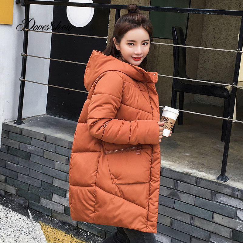 Caramel Hooded Elastic Winter   Down     Coat   Jacket Long Warm Women Casaco Feminino Abrigos Mujer Invierno 2018 Parkas Outwear   Coats