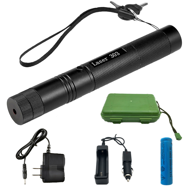 Military 532nm 5mw 303 Green Laser For Hunting verde Pen Lazer Pointer Burning Beam Burn Match with 18650 Battery Charger