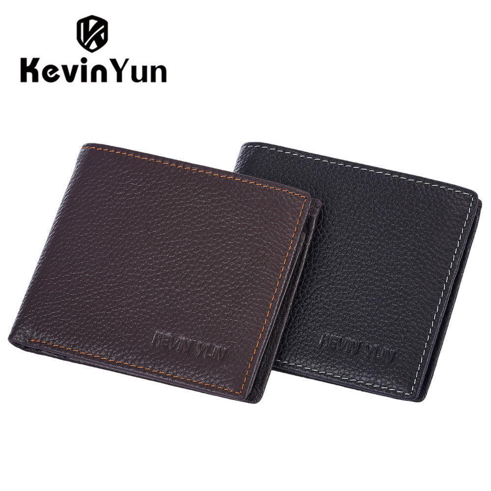 Kevin Yun Luxury Fashion Designer Brand Men Wallets Genuine Leather Wallet Large Capacity Male Pocket Purse with Coin Pocket 2016 genuine leather wallet mens fashion designer retro vintage purses luxury brand men wallets coin pocket male money clip