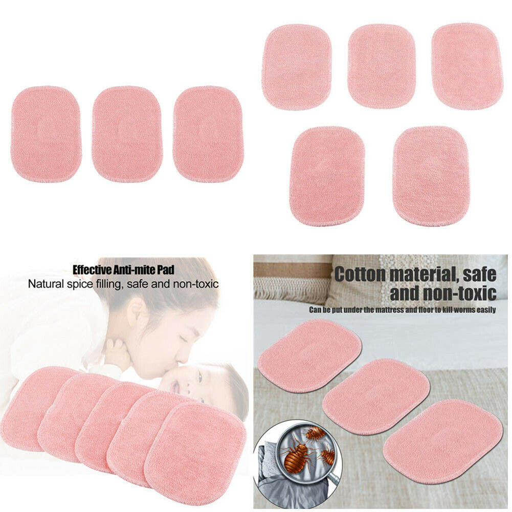 3/5Pcs Dust Mite Killing Pad Safe Cotton With Spice Anti-mite Pads Cushion For Home Sofa J2Y