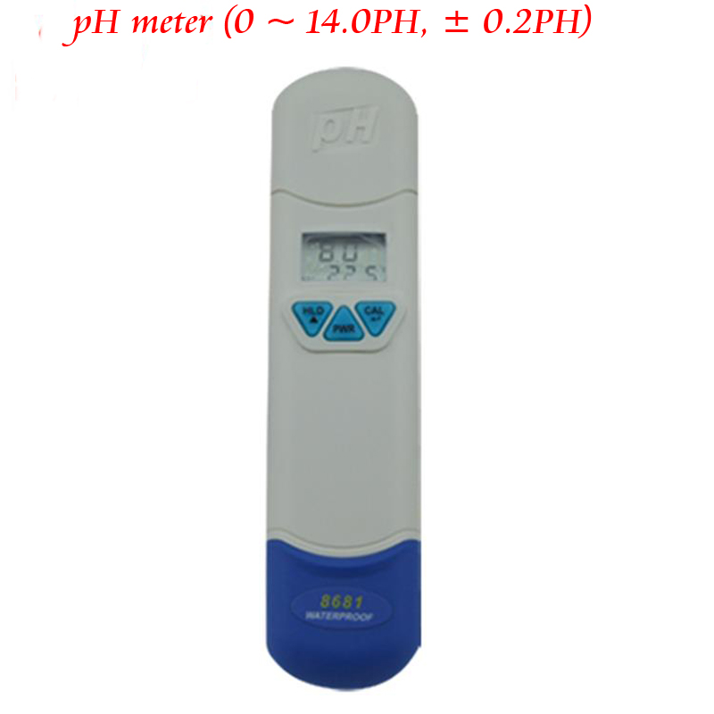 AZ8681 Waterproof Pen Digital PH Meter Temperature Tester Aquarists PH meter electronic water quality analyzer 1 15ph pocket waterproof digital ph tester measuring semisolid substance with temperature measurement carrying case