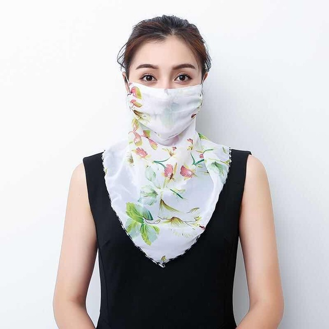 2020 Hot sell mouth mask Lightweight Face Mask scarf Sun Protection Mask Outdoor Riding Masks Protective silk Scarf Handkerchief 5