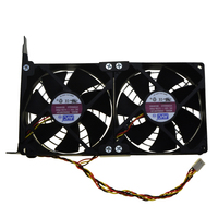 Universal GPU Double Fan Partner Ultra Quiet PCI Vedio Card Dual Cooler Computer Chassis PCI E