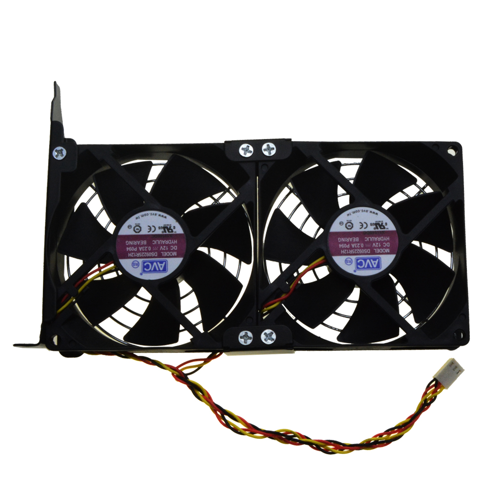 Universal GPU Double Fan Partner Ultra Quiet PCI Video Card Dual Cooler Computer Chassis PCI-e Graphics Card Cooling 9CM free shipping diameter 75mm computer vga cooler video card fan for his r7 260x hd5870 5850 graphics card cooling