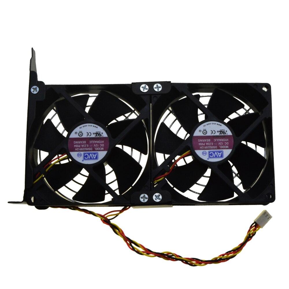 Universal GPU Double Ventilateur Partenaire Ultra Calme PCI Carte Vidéo Double Refroidisseur Ordinateur Châssis PCI-e Carte Graphique De Refroidissement 9 CM