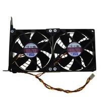 Universal GPU Double Fan Partner Ultra Quiet PCI Vedio Card Dual Cooler Computer Chassis PCI E