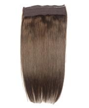 """Zzhair 20 """"50 см Одна деталь флип в 100% Пряди человеческих волос для наращивания 1 шт. 200 г-Зажимы Halo волос бразильские волосы прямые non-реми"""
