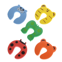 5pcs/lot Baby Kids Safety Stop Lock Cartoon EVA Door Stopper