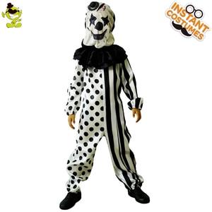 Image 4 - בני מפחיד ליצן תחפושות ליל כל הקדושים מסיבת תחפושות תפקיד לשחק תלבושת ילדי עם מסכת רוצח תחפושת מסיבת סטים