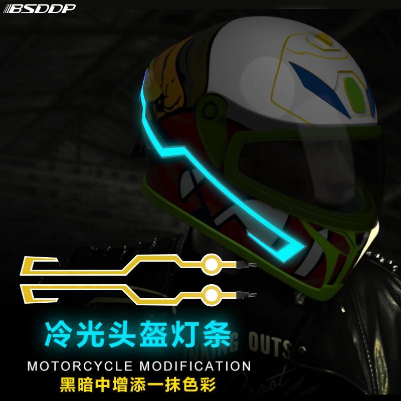 2018 New Fashion Motorcycle Helmet Light Strip Night